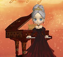 Piano Lover Birthday Greeting Card by Moonlake