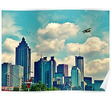 Atlanta Georgia Skyline 2012 Poster