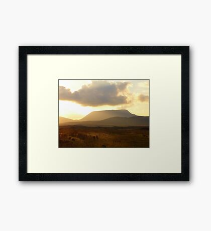 Sometimes The Clouds Are In The Right Place Framed Print