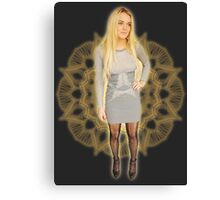 Lace Lindsay Grey Skirt Canvas Print