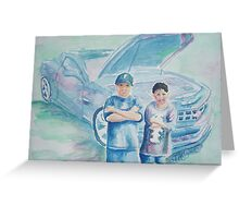 Boys-N-Cars Greeting Card