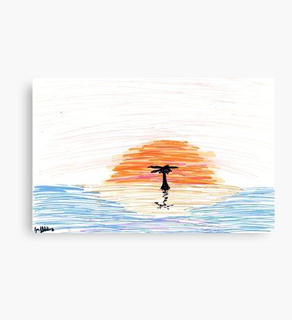 Lonley Desert Island Sunset Canvas Print