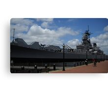 USS Wisconsin Canvas Print