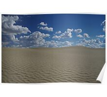 Sand Dune and Blue Sky Poster