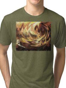 Terrestrial Brush Strokes  Tri-blend T-Shirt