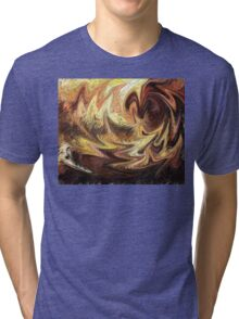 Terrestrial Brush Strokes  Tri-blend T-Shirt
