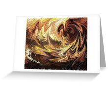 Terrestrial Brush Strokes  Greeting Card