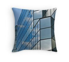 Glass office building. Throw Pillow