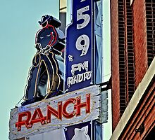 95.9 Ranch Radio Sign iPhone 4 Case by Warren Paul Harris