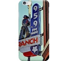 95.9 Ranch Radio Sign iPhone 4 Case iPhone Case/Skin