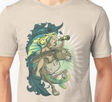 Boy on Hare Unisex T-Shirt
