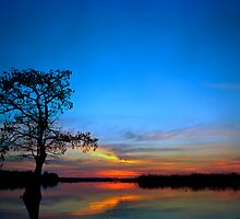 Sunset #3. Lake Gentry. by chris kusik