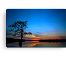 Sunset #3. Lake Gentry. Canvas Print