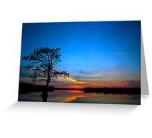 Sunset #3. Lake Gentry. Greeting Card