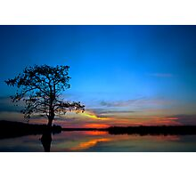 Sunset #3. Lake Gentry. Photographic Print