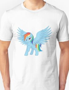 Rainbow Dash with Spread Wings Unisex T-Shirt