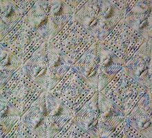 Knitted Diamond Petals Baby Blanket by mrsmcvitty