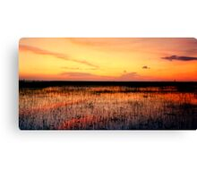 Sunset. East Lake Toho. Canvas Print
