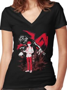 Inner Ghoul Women's Fitted V-Neck T-Shirt