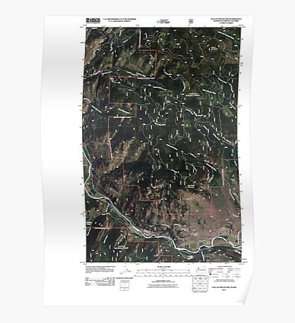 USGS Topo Map Washington State WA Vulcan Mountain 20110505 TM Poster