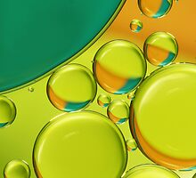Bubble Abstract with a Twist of Lime by Sharon Johnstone