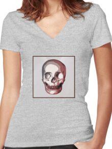 Skull. Women's Fitted V-Neck T-Shirt