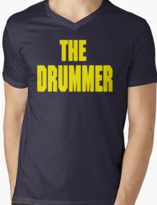 THE DRUMMER (DAVE GROHL / TAYLOR HAWKINS) YELLOW Mens V-Neck T-Shirt