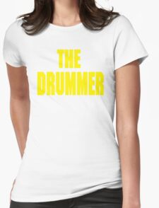 THE DRUMMER (DAVE GROHL / TAYLOR HAWKINS) YELLOW Womens Fitted T-Shirt