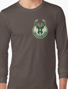 milwaukee bucks deer basketball Long Sleeve T-Shirt
