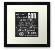Patience with Children Framed Print