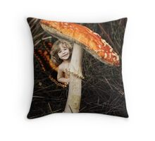 An Impish Grin Throw Pillow