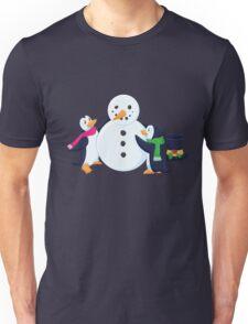 Snowman penguins Unisex T-Shirt