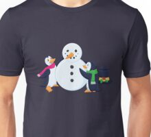 Snowman penguins Unisex T-Shirt