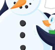 Snowman penguins Sticker