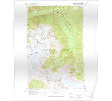 USGS Topo Map Washington State WA Forbidden Peak 241153 1963 24000 Poster