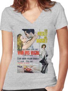 Elvis in Viva Las Vegas(Italian promo) Women's Fitted V-Neck T-Shirt