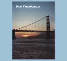 Golden Gate Bridge - Sunset From Torpedo Wharf Kids Clothes