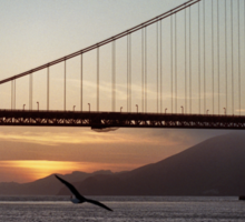 Golden Gate Bridge - Sunset From Torpedo Wharf Sticker