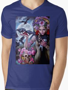 Madonna of the Crows Mens V-Neck T-Shirt