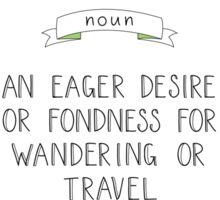 Wanderlust Definition - Adventure Sticker