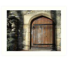 Door to the past. Art Print