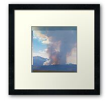 Waldo Canyon fire first day  Framed Print