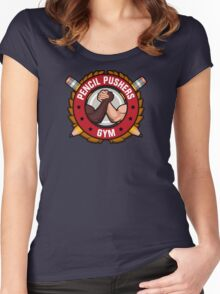 Pencil Pushers Gym Women's Fitted Scoop T-Shirt