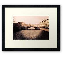 Old Blurred City Framed Print