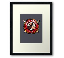 Pencil Pushers Gym Framed Print