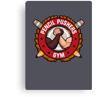 Pencil Pushers Gym Canvas Print