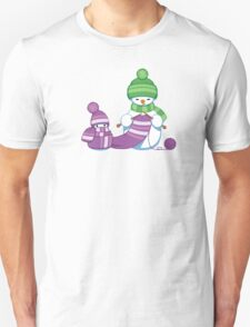 Knitting Snowman T-Shirt