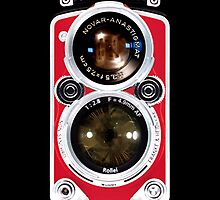 Red Rolleiflex Dual lens Vintage camera iphone 5, iphone 4 4s, iPhone 3Gs, iPod Touch 4g case by pointsalestore Corps