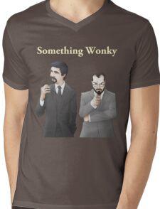 Something Wonky Logo Mens V-Neck T-Shirt