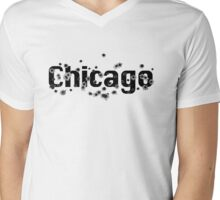 Chicago Mafia History Boss Gunshots  Mens V-Neck T-Shirt
